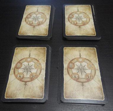 Four equally divided decks.