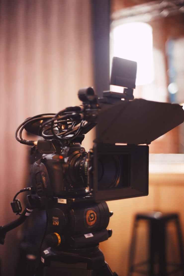 black filming camera
